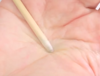 Cotton Ball Wood Stick