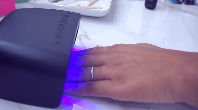 Hands under LED Light